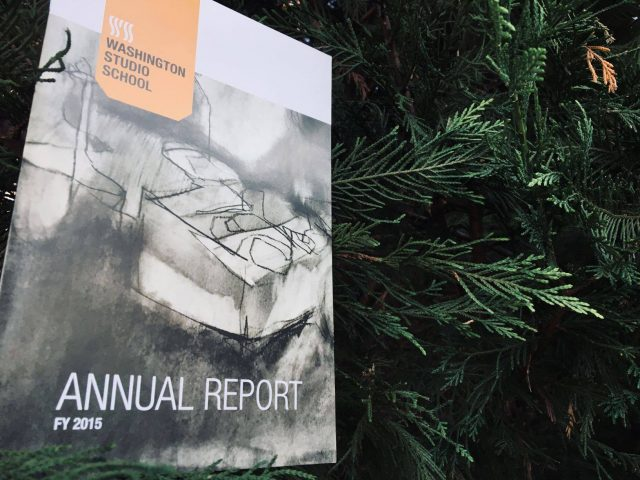 Blast from the past: Washington Studio School Annual Report circa 2015. Please let us…